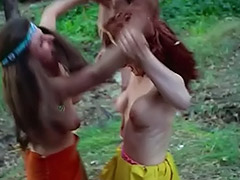 Kinky Chicks Fight and Tease Each Other 1960