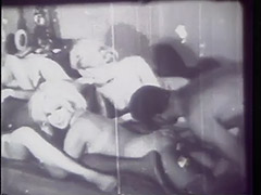 1960, Classic, Ebony, Interracial, Teen, Threesome
