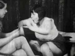 Lesbian Girls at Cards Catfighting 1940 porn video