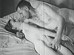 Sexy Couple Teasing and Fucking 1950 porn video