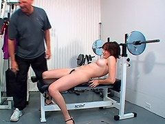 This Hardcore Video Takes Place in a Gym Between Hairy Amateur and Her Coach