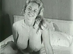 Big Busty Virginia Bell Solo 1950 porn video