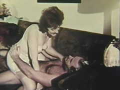 Old Man Fucking Mature Lady on the Couch 1960 porn video