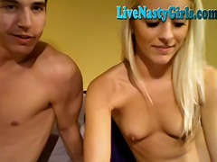 Hot Blonde Fucks Her Boyfreind On Webcam
