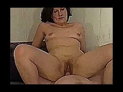 My wife hard core fucking Horny wife gets on top of her partner's dick and rides it as her tits boun