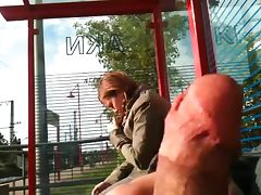 bus stop flash porn video