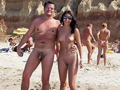 Voyeur, Aged, Beach, Cougar, Couple, Hidden