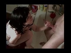 No touch No suck Pretty young working girl jerks guy off in the bathroom She wont let him touch her