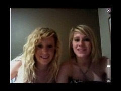 Cute Blondes Webcam couple of cute college coeds doing some webcam from a hotel room They hide behin porn video
