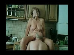 My Mum Gets Fucked In The Kitchen Old couple still like to have loads of fun in their sex life which