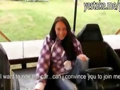 Czech girl fucks in office bumping cars