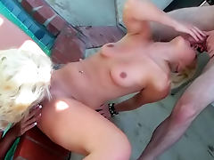 Young blonde women fucked in group video