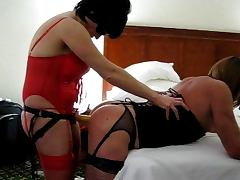 Girl Fucks Her HOT BF with Strap on Dildo