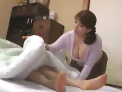 Fat Busty Milf Giving Blowjob For Sleeping Guy Licked In 69 On The Mattress In The Room