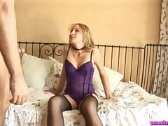 Slutty blonde Stefana lets the man do all what he wants with her snatch