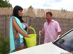 Unbelievable Aletta's Car Wash With Hot Fucking Action