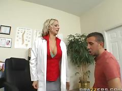Horny and busty therapist Sinthia Fix gets fucked hard