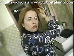 Busty Italian Mature Loves Taking Cocks Up Her Ass and Hairy Pussy