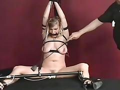 Caning, Bondage, Caning, Gagging, Thong, Vibrator