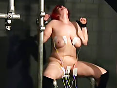 Fat girl loves tit pain