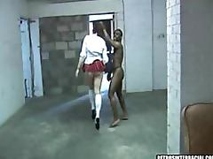 Lustful Brunette Babe Get Interracially Fucked In Her School Uniform