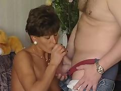 Housewife, Blowjob, Brunette, Cumshot, Housewife, Mature