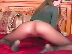 Capri Anderson arousing pantyhose tease