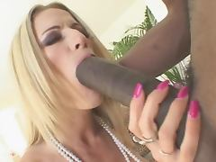 Blonde Office Lady Lauren Kain Drilled by a Huge Black Cock