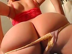Big ass redhead in sexy panties