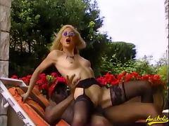 80's slut getting a big black cock