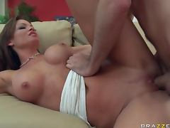 MILF Rhylee Richards Tests Her Daughter's Boyfriend With a Titty Fuck