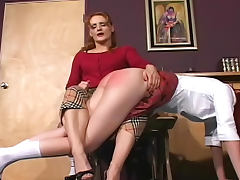 Schoolgirl asses spanked hard to turn