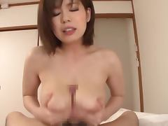 Sexy chick Airu Oshima busty fuck with cum on her tits