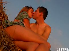Farm Field Escapade With The Blonde Teen Dominika