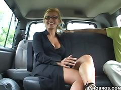 Hot Bang Bus Fuck With The Busty Blonde Rene