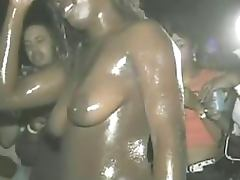 Hot Upskirts Of Slutty Ebonies Going Wild In Party