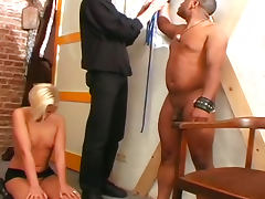 Bondage kink and hardcore foursome