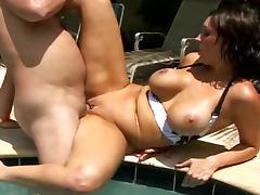 All, Big Tits, Bikini, Blowjob, Brunette, Doggystyle