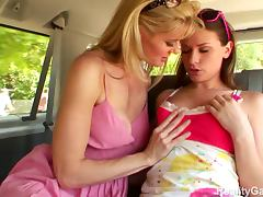 Van with Lesbian Beauties Kate Kastle and Victoria Lawson