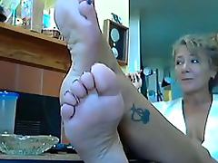 Sensual Blonde Mature Loves Bragging About Her Sexy Feet