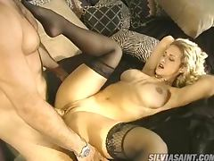 Sensual Blonde with Big Round Boobs Having Sex in Her Sexy Lingerie