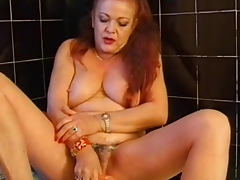 Chubby old redhead models hairy box