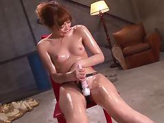 Rina Kato Oils Up Her Body As She Masturbates To Orgasm