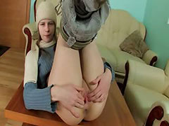 Free Beata french girl in warm outfit