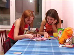 Masha and Ivana chicks peeing on toilet