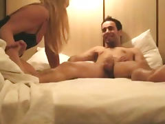 Horny Blonde Teen Rides For A Creampie