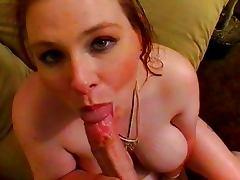 Chubby redhead sucking fat cock