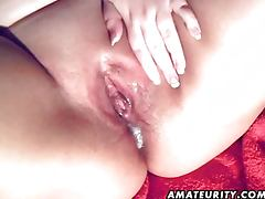 Fat amateurs fuck with a nice creampie