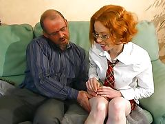 Young French redhead learns how to fuck porn video