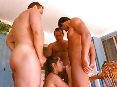 Brunette Gangbanged by Sport Teachers